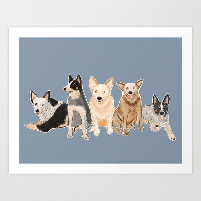 Happy Heelers Australian Cattle Dog Kunstdrucke