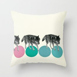 Hungry Wolves Throw Pillow