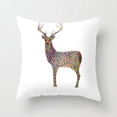 deer color Throw Pillow