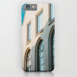 Blue sky white house in Utrecht city | clear and modern photography | fine art print iPhone Case