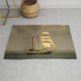 Sailing Ship In A Storm Rug