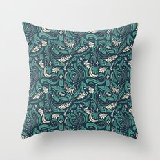 Gardening at Night Throw Pillow