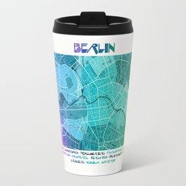 Berlin Map (Colour Gradient) Travel Mug