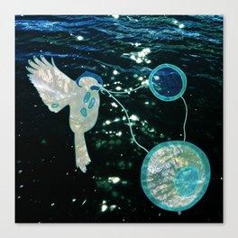 Chickadee Sings Us Canvas Print