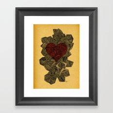 - heart line - Framed Art Print