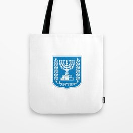 emblem of Israel 1-יִשְׂרָאֵל ,israeli,Herzl,Jerusalem,Hebrew,Judaism,jew,David,Salomon. Tote Bag