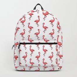Doodle Pink Flamingos - Tropical Pattern Backpack