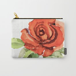 Red Rose In Bloom, Watercolour Sketch Carry-All Pouch