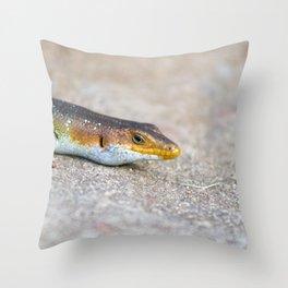 salamander close up Throw Pillow