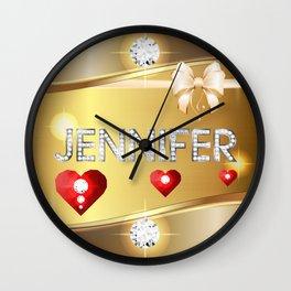 Jennifer 01 Wall Clock