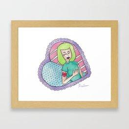 Sorry Mom Heart Cameo Framed Art Print