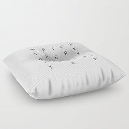 Of Which There Are No Memories Yet Floor Pillow