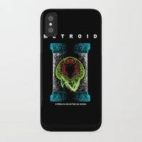 metroid iPhone & iPod Cases featuring Metroid by MeleeNinja
