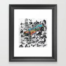 GLOBAL A GO-GO Framed Art Print