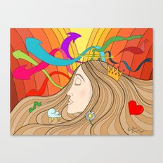 LOST IN HER DREAMS Canvas Print
