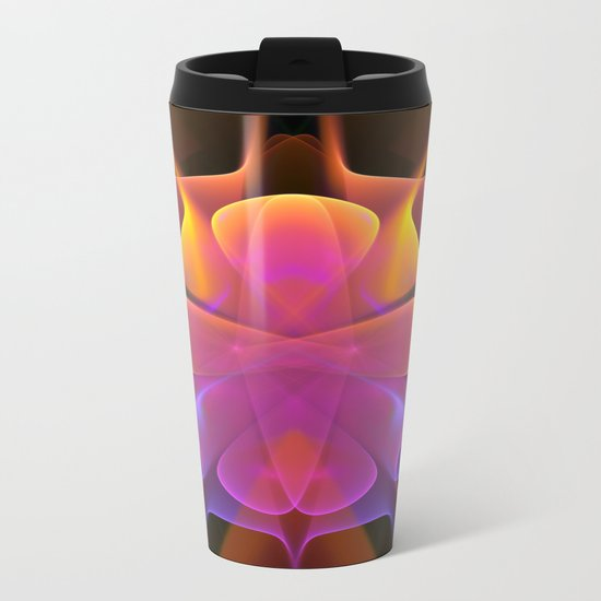 Curves and Colors, geometric abstract Metal Travel Mug