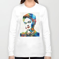 Frida Kahlo Art - Viva La Frida - By Sharon Cummings Long Sleeve T-shirt