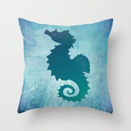 Seahorse of a Different Color ~ Marine Life ~ (Copyright 2015) Throw Pillow