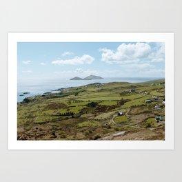 Hills of Ireland - County Kerry Art Print