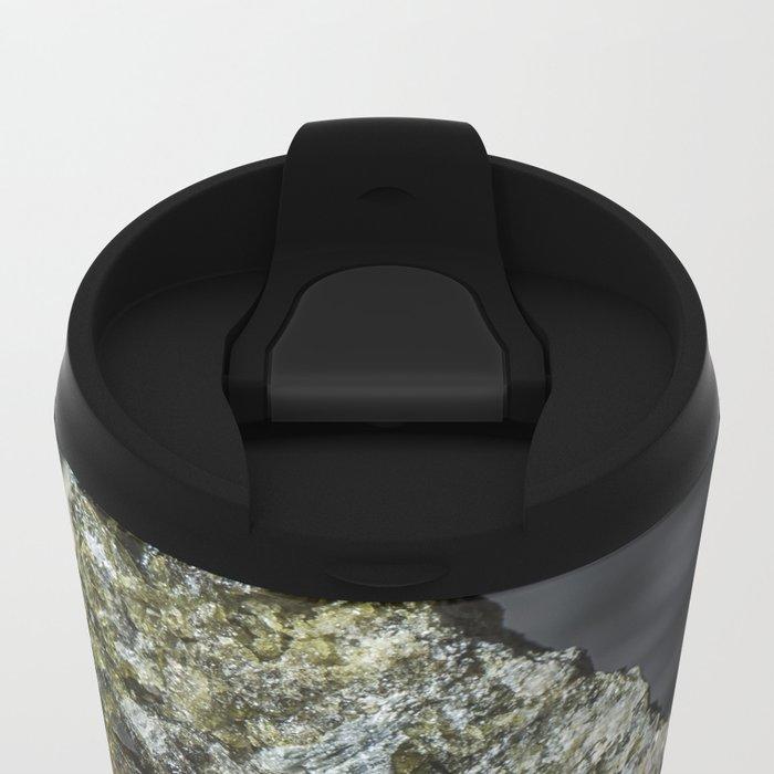 Epidote resting on granite Metal Travel Mug