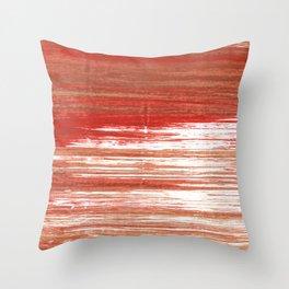 Medium carmine abstract watercolor Throw Pillow