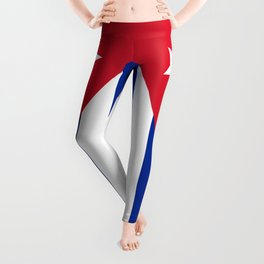 National flag of Cuba - Authentic HQ version Leggings