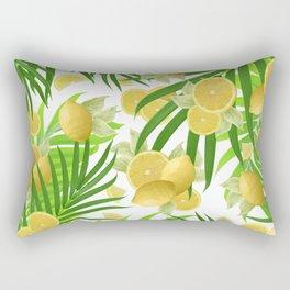 Summer Lemon Twist Jungle #2 #tropical #decor #art #society6 Rectangular Pillow