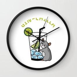 Gin Chilla Chinchilla Cocktail Love Wall Clock