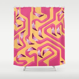 Flamingo Maze Shower Curtain