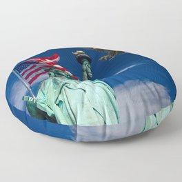 Bald Eagle a Lady Liberty Floor Pillow