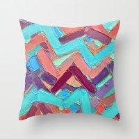 alisa burke Throw Pillows featuring Summer Paths No. 1 Original by Ann Marie Coolick