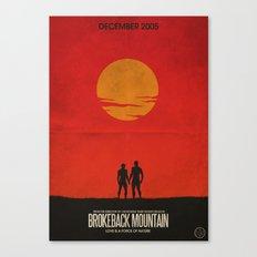 Brokeback Mountain Film Poster Canvas Print