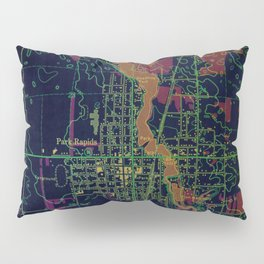 Park Rapids old map year 1969, united states old maps, colorful art Pillow Sham