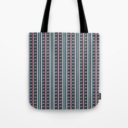 Striped Away Blue Tote Bag