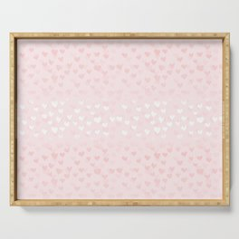 Hearts in light pink Serving Tray