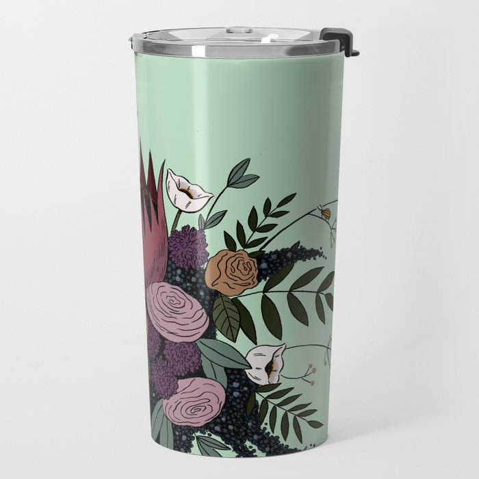 Beetles and Flowers Travel Mug