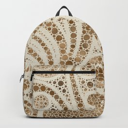 Dot Art Abstract Pastel Golds #1 Backpack