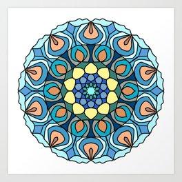 nautical mandala Art Print