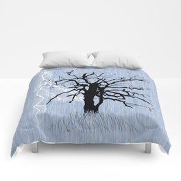 Gnarled Tree and Lightning Comforters