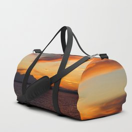 marvelous sunset over the sea Duffle Bag