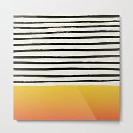 Sunset x Stripes Metal Print