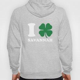 I Shamrock Love Savannah Clover St Patricks Day Cool Hoody