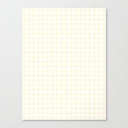 Small Diamonds - White and Cornsilk Yellow Canvas Print