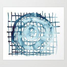 indigo shibori 08 Art Print