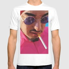 Pink Guy White MEDIUM Mens Fitted Tee