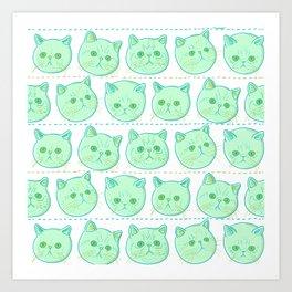 Exotic shorthair cat pattern Art Print