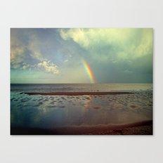 Rainbow Over Sea Canvas Print