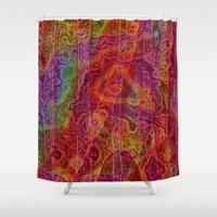 bands Shower Curtains featuring Bands II by RingWaveArt
