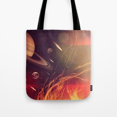 Space Fire Tote Bag