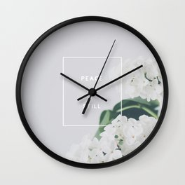 Peace, Be Still Wall Clock